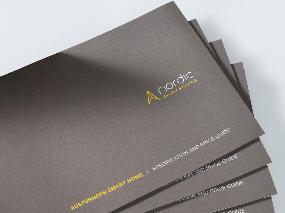 Austurhofn Prism award-winning brochure cover