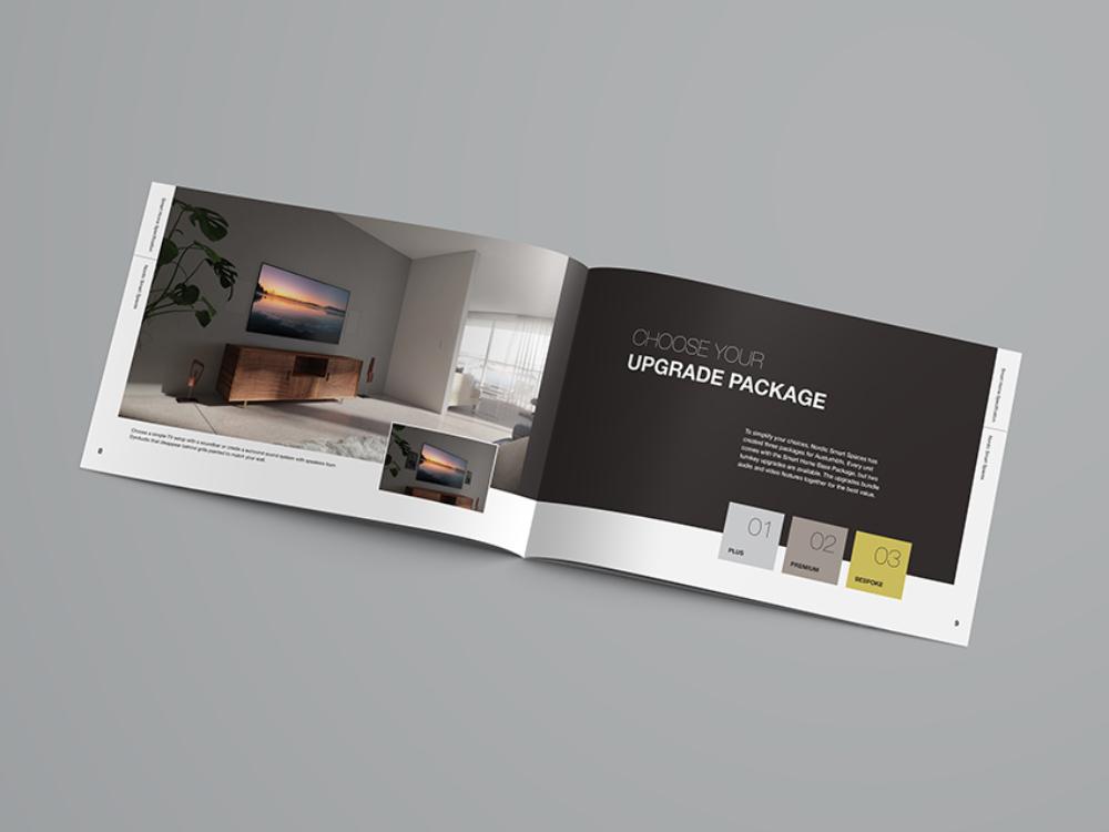 Austurhofn Prism award-winning brochure spread