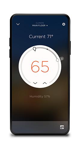 Savant Pro App for Climate Control